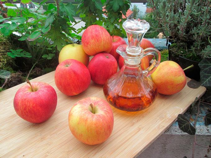 Vinagre de manzana para evitar el efecto frizz